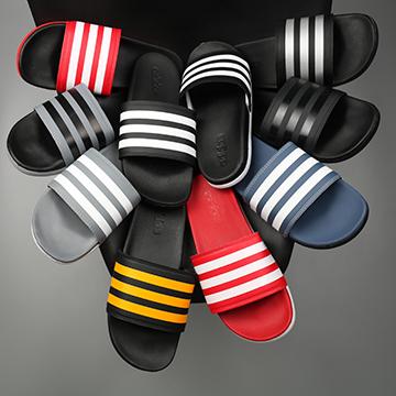 Dép Adidas plus quai 3 sọc màu