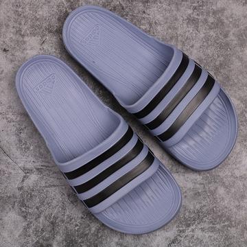 Dép đúc Adidas Duramo xám sọc đen